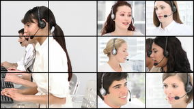 HD video footage of a business call centre stock video footage