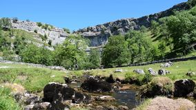 HD Video Of Malham Cove Sound Removed In Yorkshire Dales National Park stock video footage