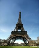 HD view of eiffel tower - france. Wide angle dynamics royalty free stock photos