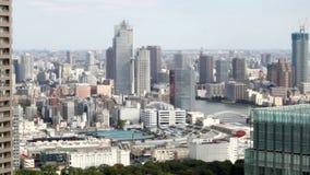 HD - Vista aérea del tsukiji Tokio, Japón metrajes