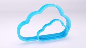 HD - Wolkensicherheitskonzept 3d stock abbildung