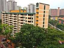 HDB block, Singapore Royalty Free Stock Photos