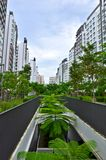 HDB Flat, City in a Garden Stock Photo