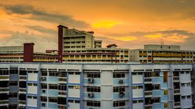 HDB flates, Block Residential buildings. Residential buildings, HDB flates in Singapore Royalty Free Stock Photo