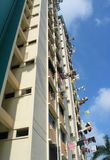 HDB Flats in Singapore. Many Tourist find this a funny site - Laundry in the Sun royalty free stock photo