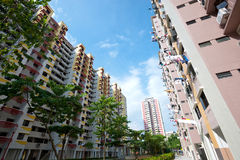 HDB Housing in Singapore. This image shows a HDB Housing unit in Singapore Stock Photos