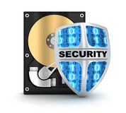 HDD和安全 库存照片