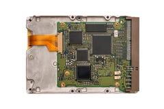 HDD изолированное на белой предпосылке Задняя сторона жёсткого диска Стоковые Фото