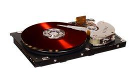 HDD с красным диском винила вместо магнитной плиты Стоковые Изображения