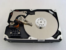 Hdd. Isolated opened hard drive Stock Image