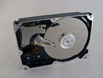 Hdd. Isolated opened hard drive Stock Photography