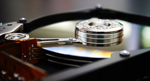 HDD. Detail of HDD, Hard disk, winchester Royalty Free Stock Photo
