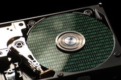 HDD With Binary Code Stock Image