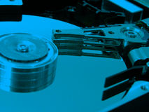Hdd bleu Photographie stock