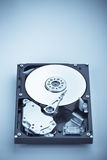 HDD on blue vertical Royalty Free Stock Photos