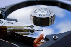 Hdd close up Royalty Free Stock Image