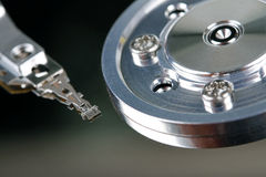 HDD - close up of computer hard disk Royalty Free Stock Photo