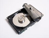HDD closeup. For lubrificant Openly Royalty Free Stock Photos