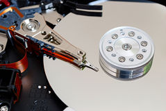 Hdd of computer inside Stock Photos