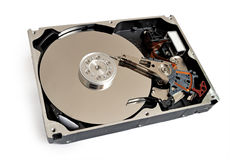 Hdd of computer isolated Stock Photo