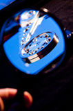 Hdd concept, hard drive disc. Blue Royalty Free Stock Photo