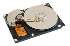 HDD d'isolement Images stock