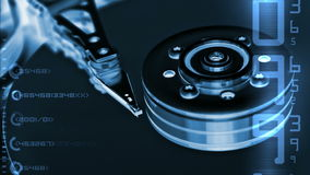 HDD data stock footage