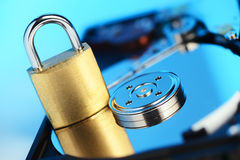 HDD data protection concept Royalty Free Stock Photo