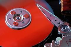 HDD dentro il caso immagini stock