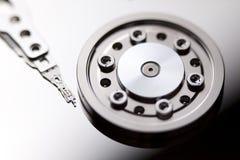 HDD disc drive. Macro close-up Stock Photos