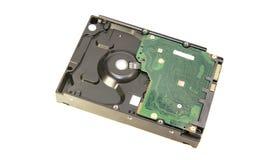 HDD (drive del hard disk) per i dati di stoccaggio su fondo bianco Fotografia Stock