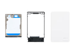 HDD and External Enclosure case Royalty Free Stock Photo