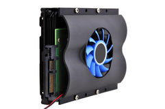 Hdd and fan Royalty Free Stock Image
