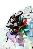 Hdd, floppy, dvd and cd-rom  data background. Nice color hdd, floppy, dvd and cd-rom  data background Royalty Free Stock Images