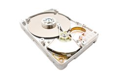 HDD Hard Disk Drive. Isolated over white Royalty Free Stock Photos