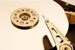 HDD - A Hard Disk Drive is open Royalty Free Stock Image