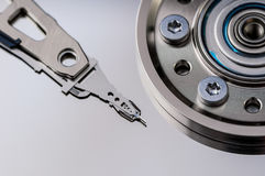 HDD Harddisk internals closeup datadisk Stock Photography