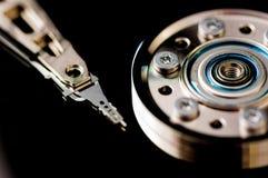 HDD Harddisk internals closeup datadisk Stock Photos