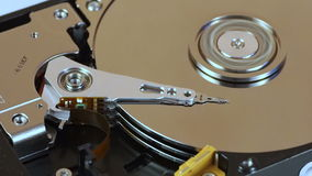 HDD heads seeking the data stock footage