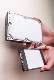Hdd in hsnds Stock Images