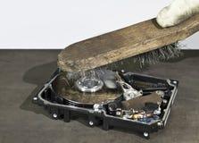 HDD i szorowania muśnięcie Zdjęcie Royalty Free