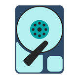 HDD icon. Flat Vector illustration on white background Stock Photo