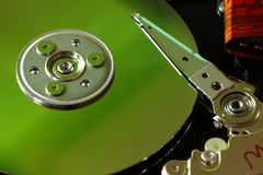 HDD inside the case stock photos