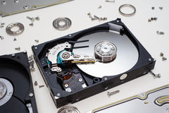 HDD Inside Royalty Free Stock Photo