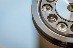 HDD internal parts close-up shot Stock Photography
