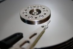 HDD - La unidad de disco duro está abierta Fotos de archivo