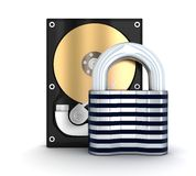 HDD and lock Royalty Free Stock Photo