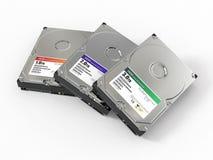 HDD. Mecanismo impulsor de disco duro ATA tres. 3d