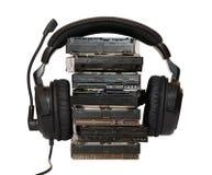 HDD mit Kopfhörern Lizenzfreies Stockbild