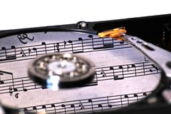HDD With Music Royalty Free Stock Photo